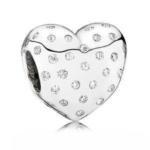 Pandora sparkle of love CZ heart charm